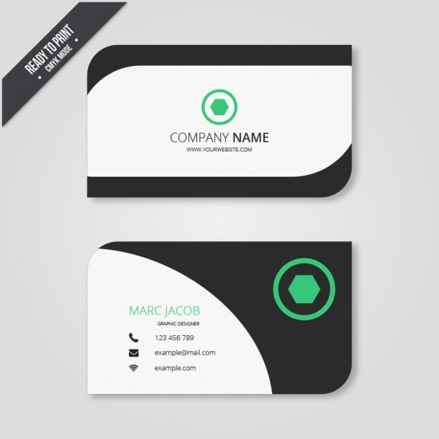 Business card in modern style Free Vector