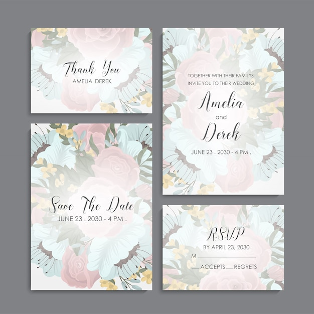 Business card name card design template Free Vector