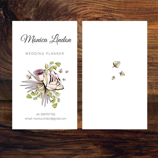 business card of wedding planner free vector - Wedding Planner Business Cards
