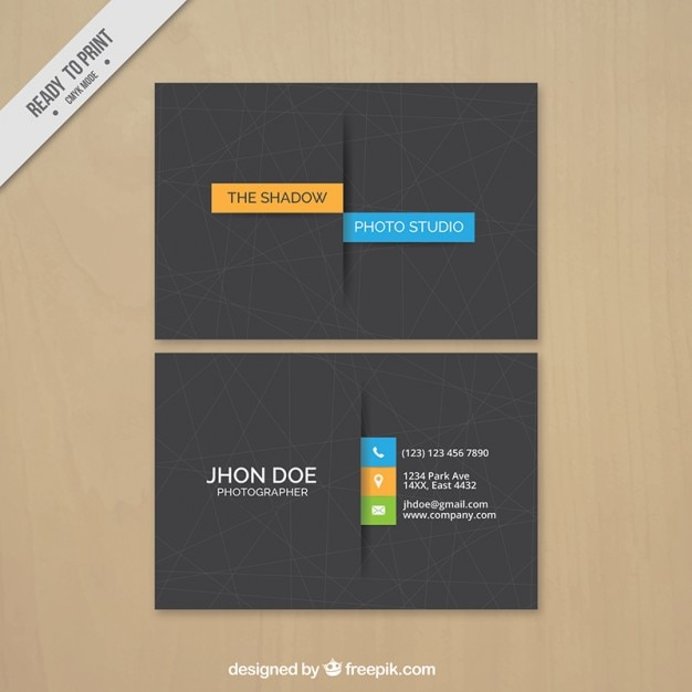 Business card photography, minimal style Free Vector