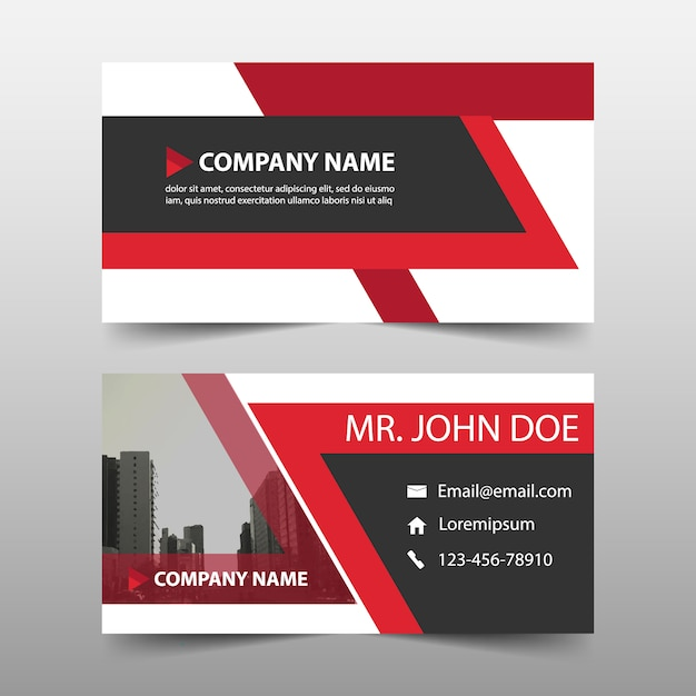 Business card red color vector free download business card red color free vector reheart Images