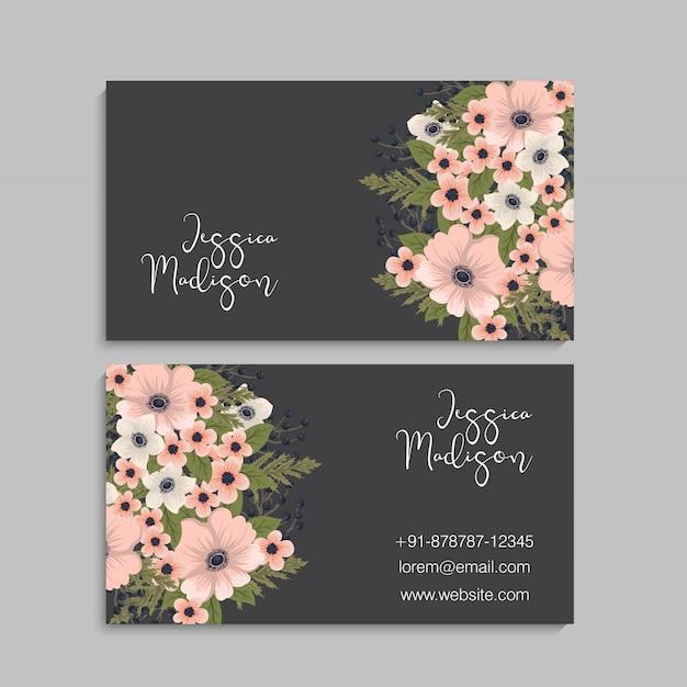 Business card set. vector illustration. Free Vector