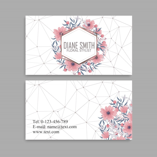 Business card set. vector illustration. Free Vector