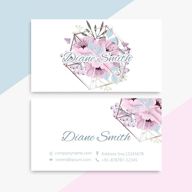 Business card set Free Vector
