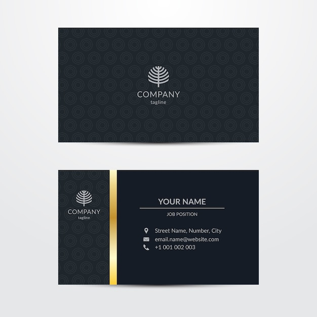 Business card template chic style Free Vector
