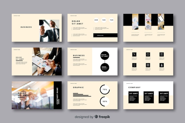 Business card template collection Free Vector