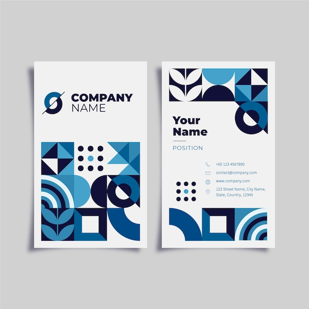 Business card template concept Free Vector
