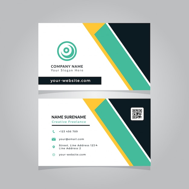 Business card template design modern vector premium download business card template design modern premium vector wajeb Image collections