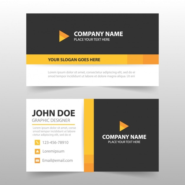 Business card template design Vector : Free Download