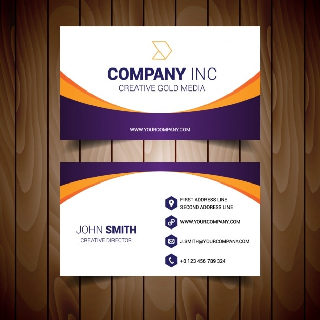 Business Card Template Design Vector Free Download - Template for business card