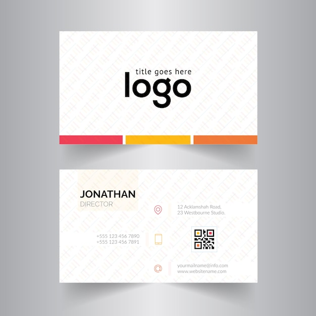 Business card template design vector free download business card template design free vector colourmoves