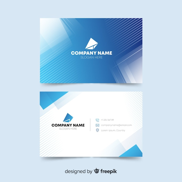 Business card template design Free Vector
