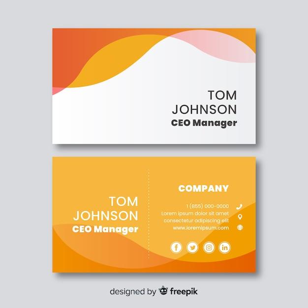 Business card template flat design Free Vector