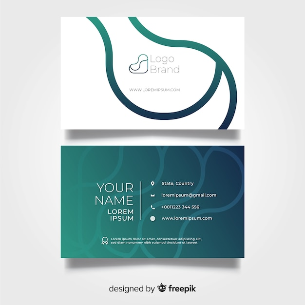 Business card template flat design Free Vector