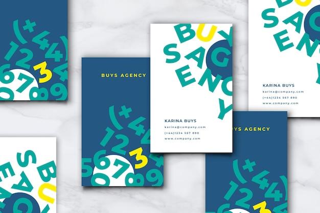 Шаблон визитки для забавного графического дизайнера Бесплатные векторы