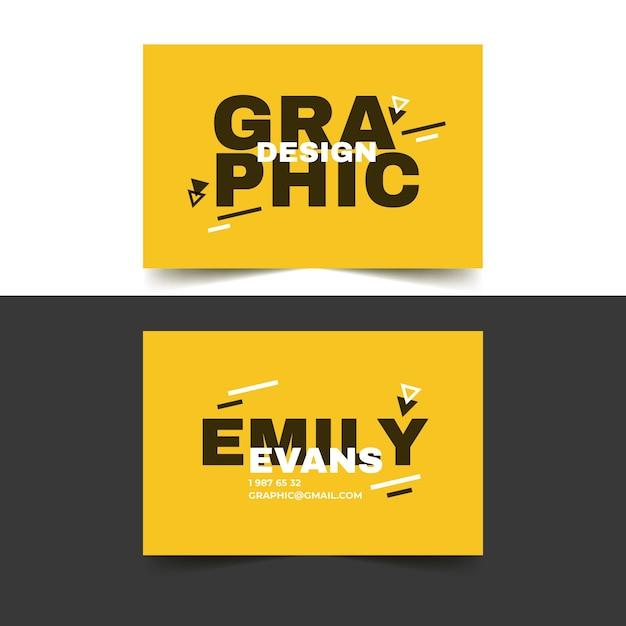 Шаблон визитки для графического дизайнера в дуэтах Бесплатные векторы