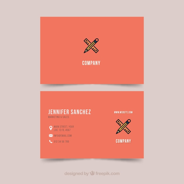 Business Card Template Illustrator Free Vector
