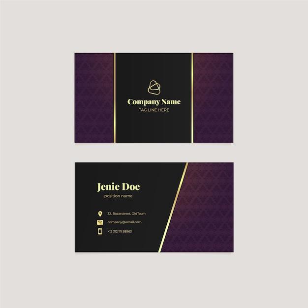 Шаблон визитки в элегантном стиле Бесплатные векторы