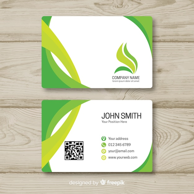 Business card template in flat style Free Vector