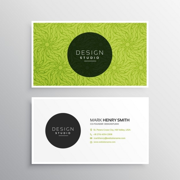 Business card template in green color vector free download business card template in green color free vector friedricerecipe Images