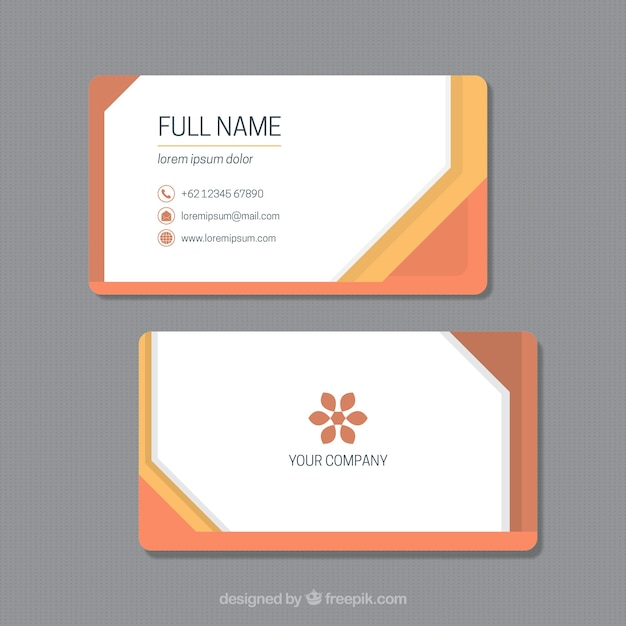 Business card template in orange tones vector free download business card template in orange tones free vector reheart Choice Image