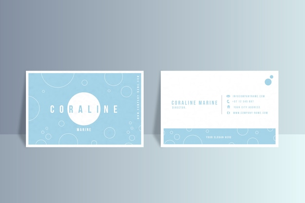 Business card template in minimalist style Free Vector