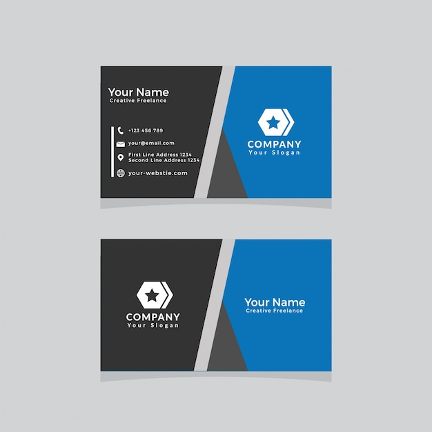 Business card template modern black and yellow vector premium download business card template modern black and yellow premium vector flashek Gallery
