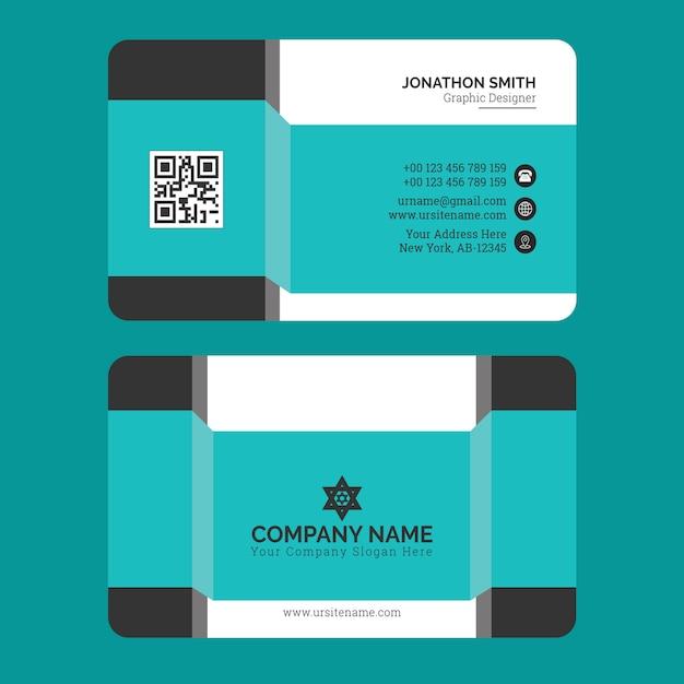 Business card template premium vector Premium Vector