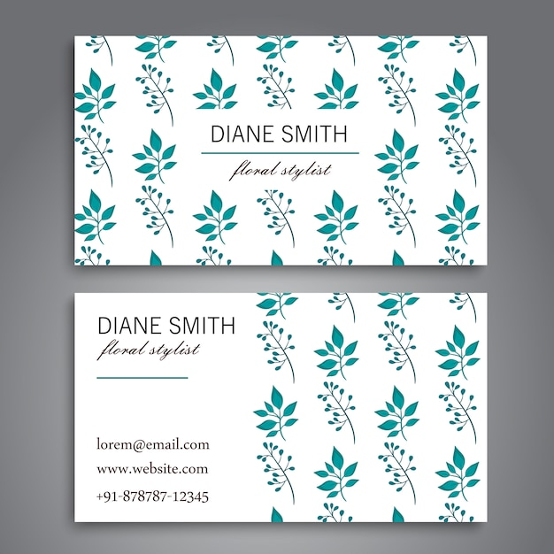 Business card template set Free Vector