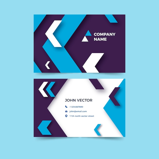 Business card template template Free Vector