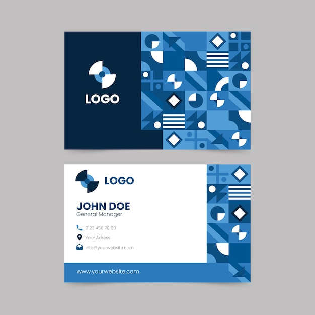 Business card template theme Free Vector