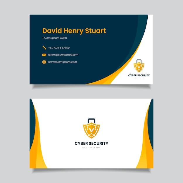 Business card template theme Premium Vector