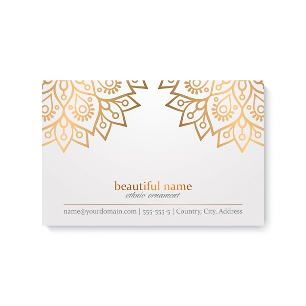 Business card template. vintage decorative elements Free Vector