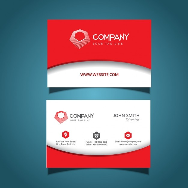 business card template with a modern design vector free download