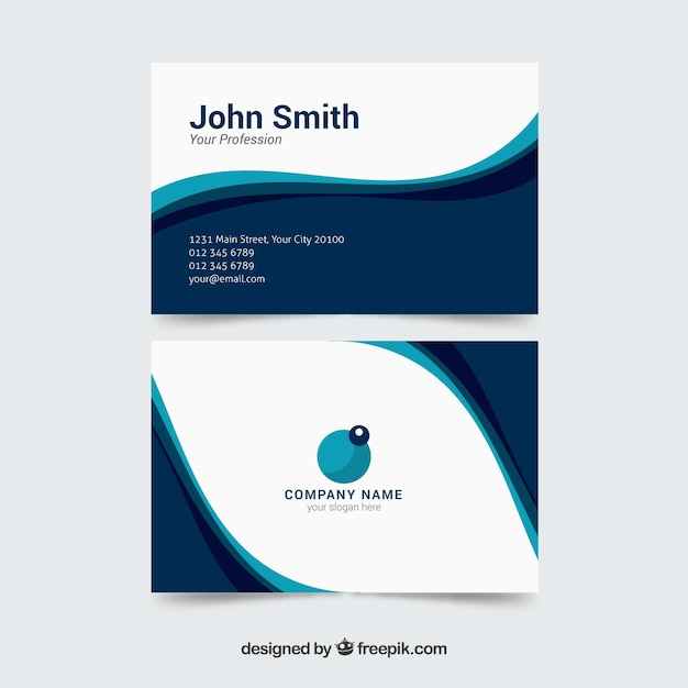 Business card template with elegant waves vector free download business card template with elegant waves free vector reheart Choice Image