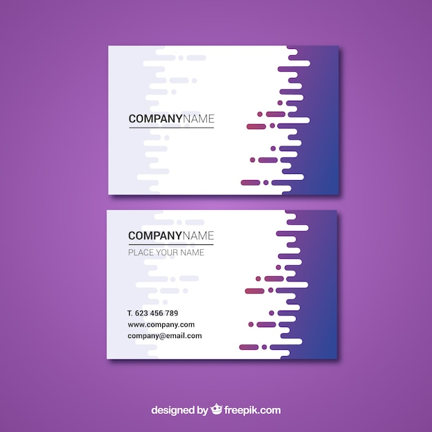 Business card template with fun style Free Vector