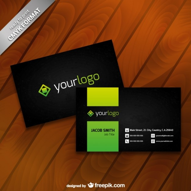 Business card template with logo vector free download business card template with logo free vector reheart Gallery