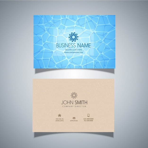 Business card template with swimming pool water texture vector business card template with swimming pool water texture free vector colourmoves Choice Image