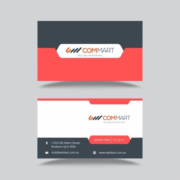 Business Card Template Vector | Free Download