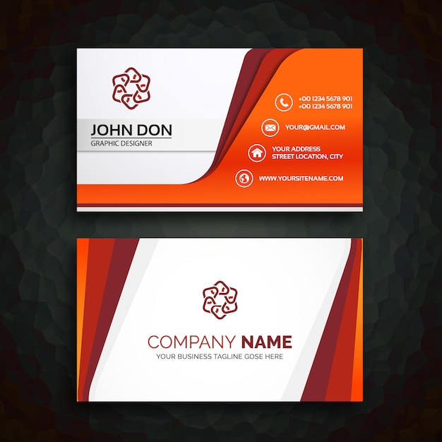 Business Card Template Vector Free Download - Template for a business card