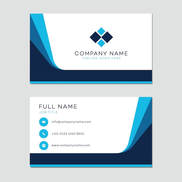 Business Card Template Vector Free Download - Business card template with photo