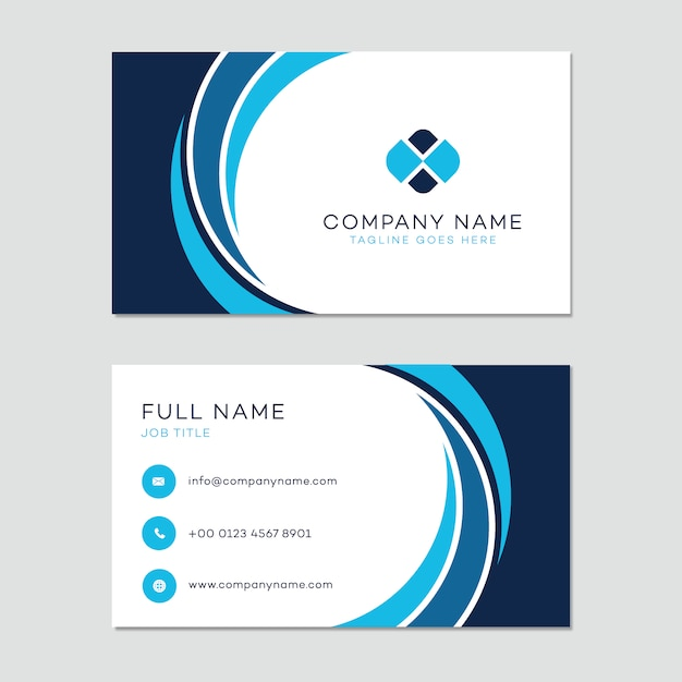 Business card template vector free download business card template free vector fbccfo Images