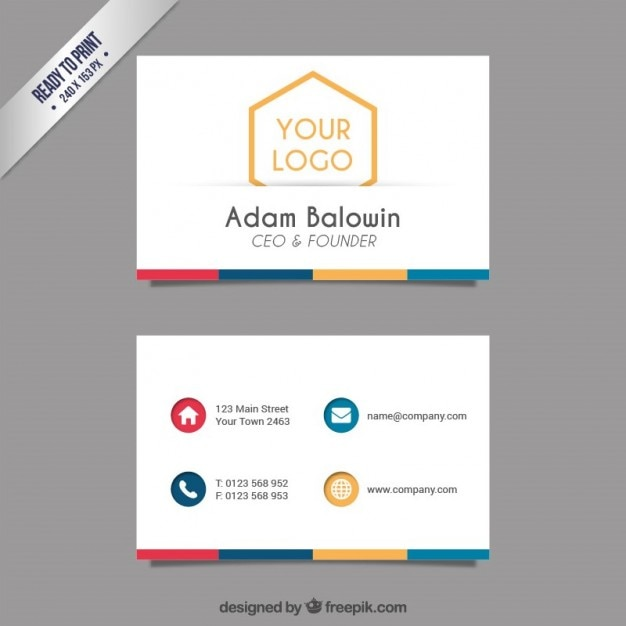 Business card template vector free download business card template free vector wajeb