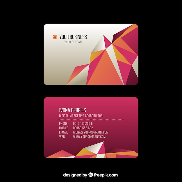 business card template free vector - Free Digital Business Card