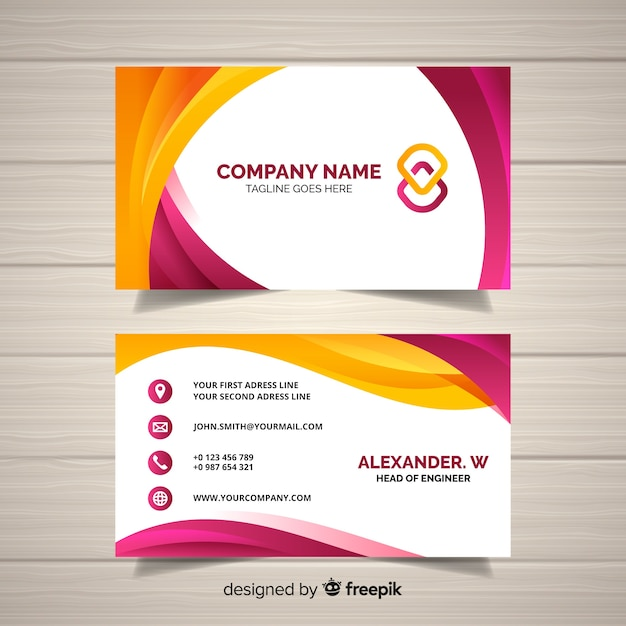 Name Card Template | Business Card Template Vector Free Download