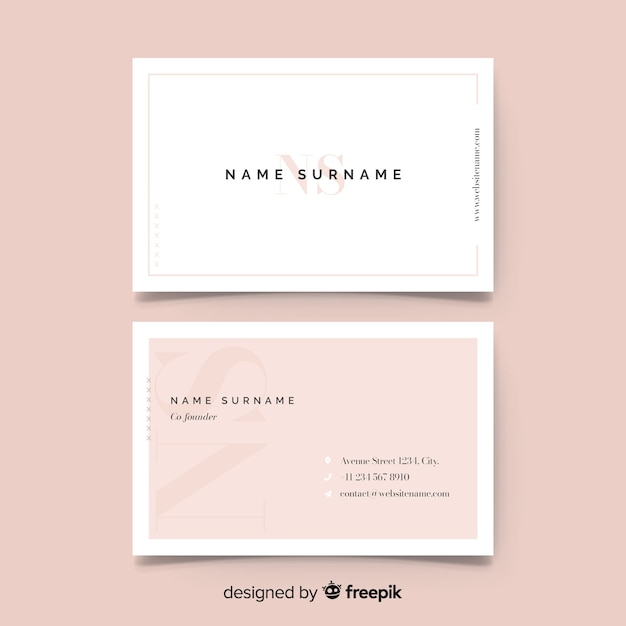 Business card template Free Vector