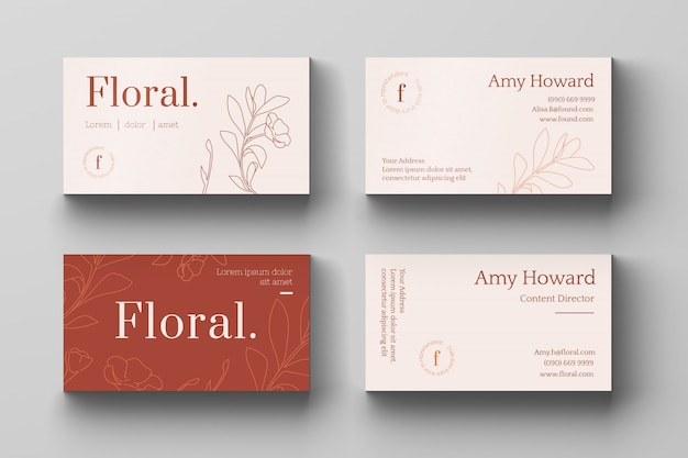Business card template Premium Vector