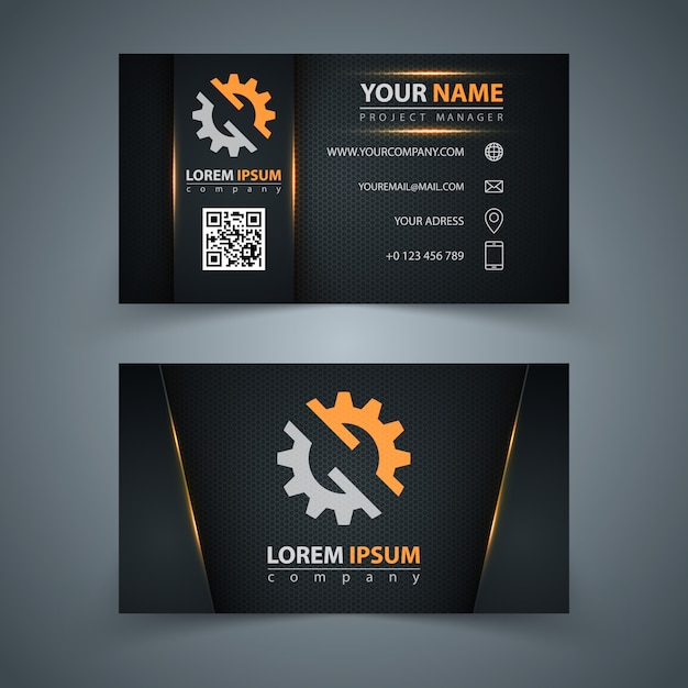 Business card template. Premium Vector