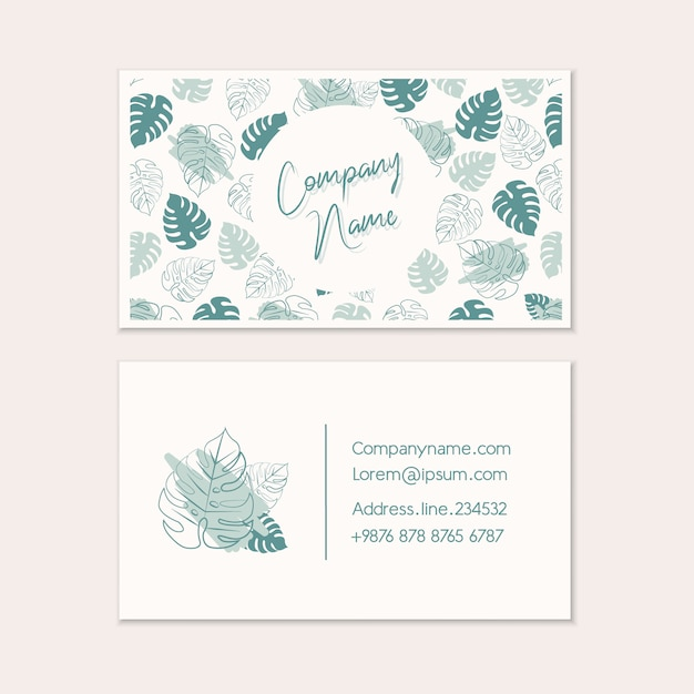 Business card templates. Premium Vector