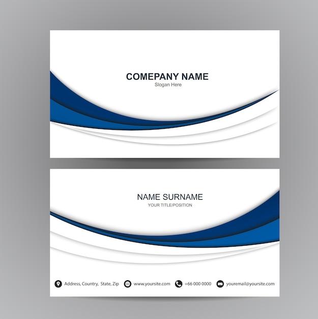 Business card vector background Premium Vector